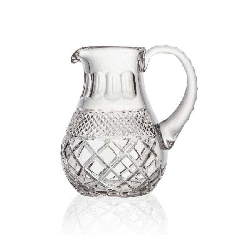 Hand-cut crystal jug from Charles IV collection.